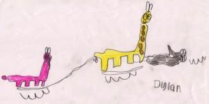 The giraffe's own room